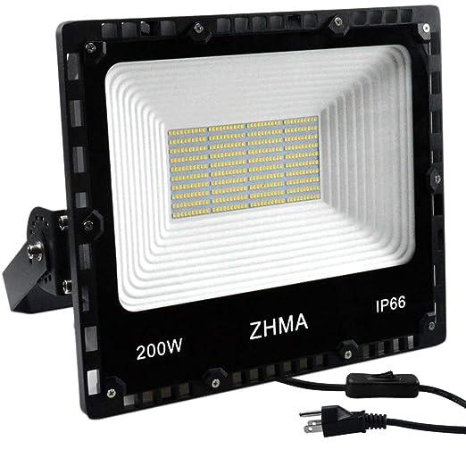 Amazon.com: ZHMA 200W LED Flood Light, IP66 Impermeable ...