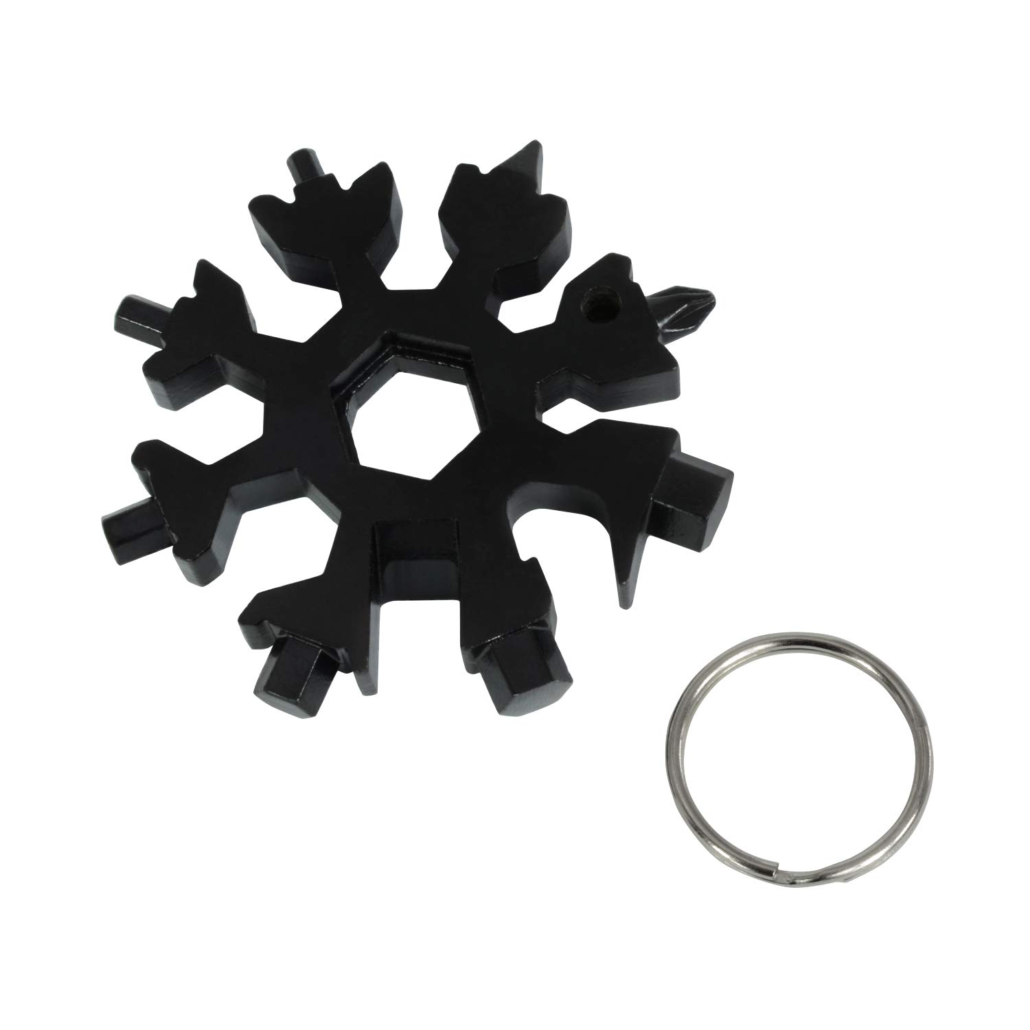 ROSE KULI Snowflakes Multitools - 18 in 1 Multi Tools Portable Wrench Screwdriver Pocket Multi-Tools for Open Key, Black