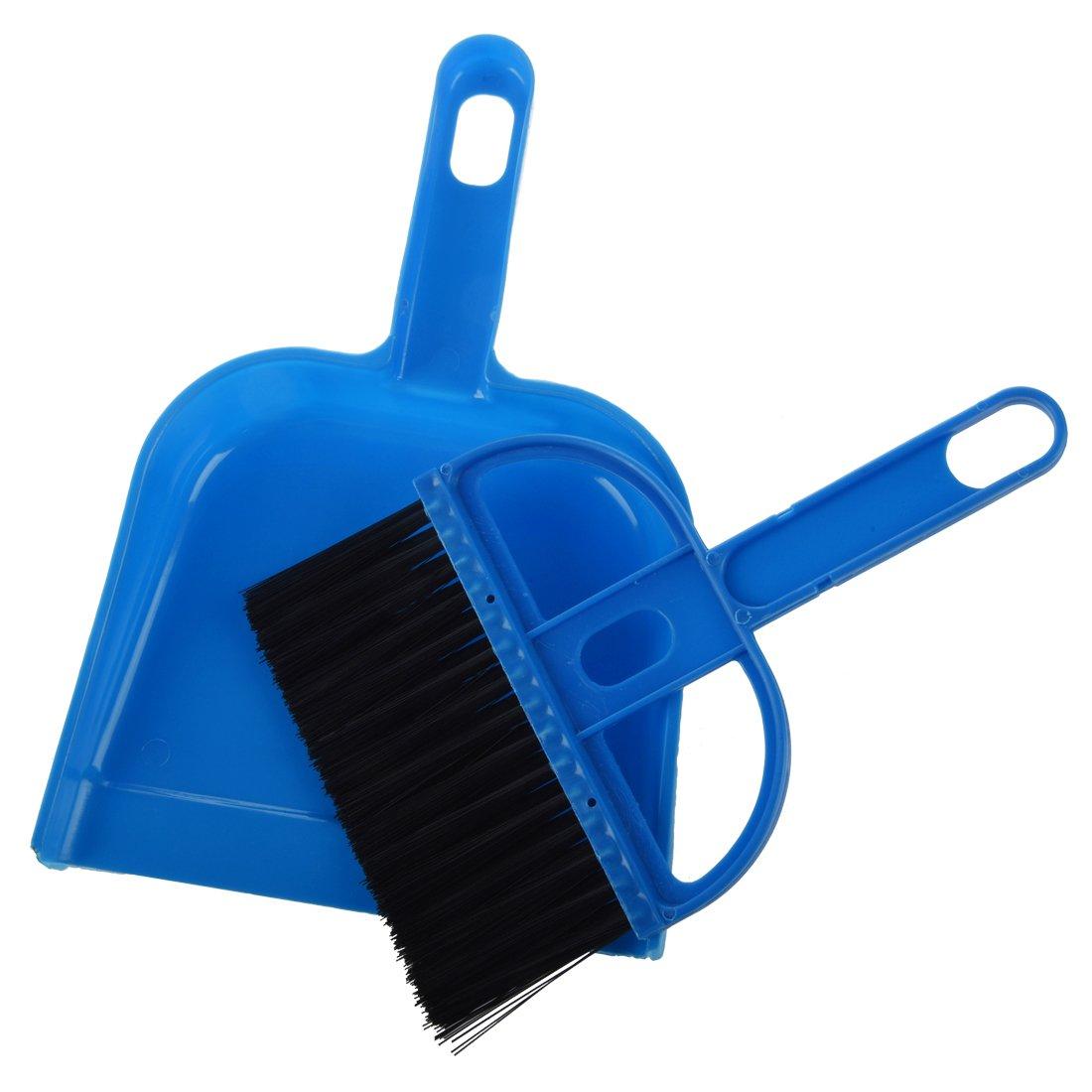 Desktop Keyboard Clean Mini Brush Dust Pan Set Blue