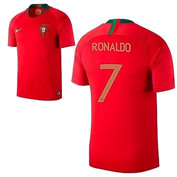 Fan sport24 Portugal Stadium Home Camiseta de Fútbol WM 2018 Rusia Camiseta Ronaldo 7, Rojo, 164: Amazon.es: Deportes y aire libre