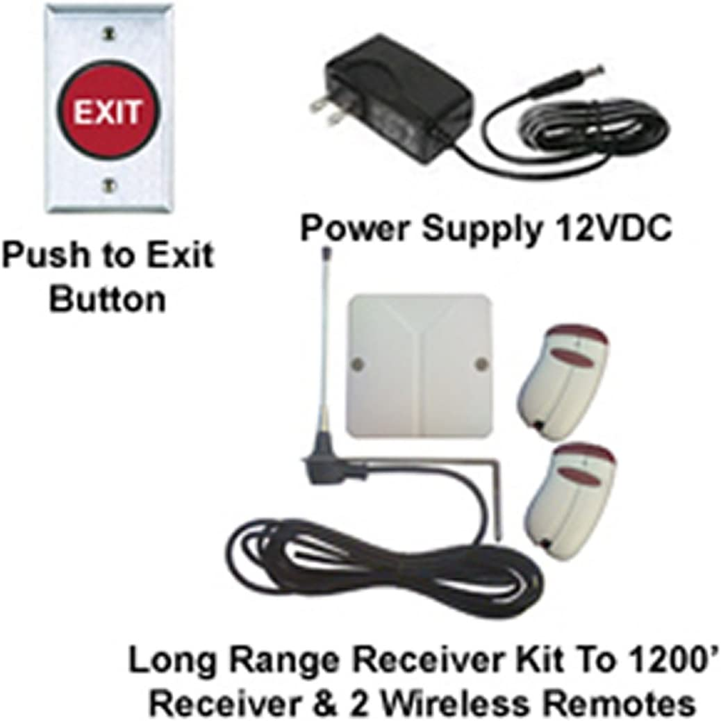 Electric Magnetic Lock 2 Wireless Receiver/&Remotes Door Access Control System