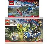LEGO Jurassic World Pteranodon Capture & Dilophosaurus Ambush 75915,75916 Building Collections 2015
