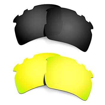 HKUCO Mens Replacement Lenses For Oakley Flak 2.0 Vented - 3 pair 0JfHe6
