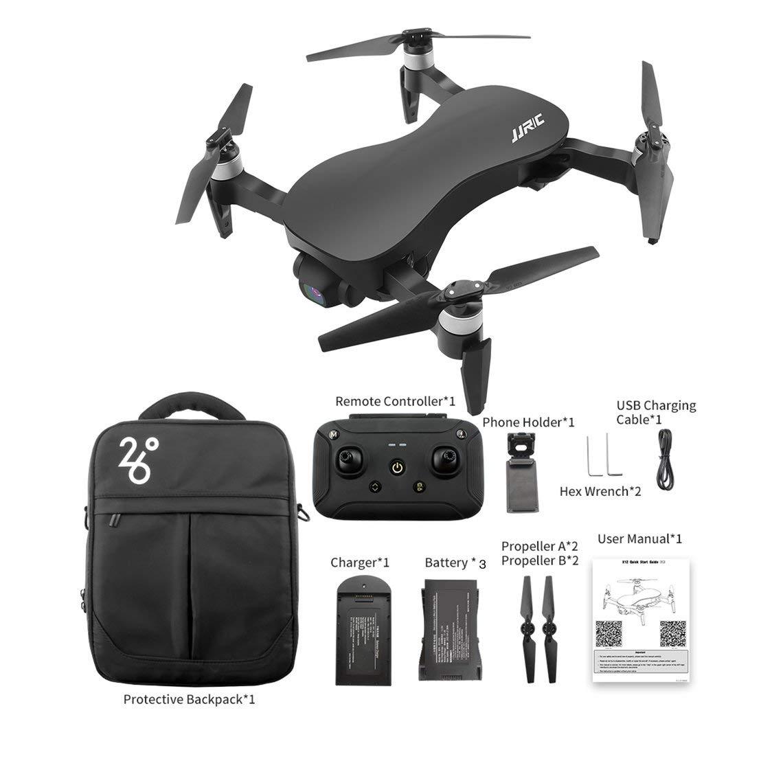 Zinniaya JJRC X12 RC Drones Cámara 5G 4K Flujo óptico HD Sin ...