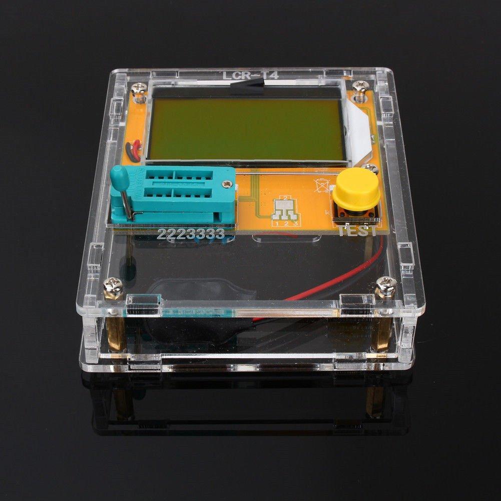 SODIAL LCR-T4 Mega328 Misuratore di ESR di capacita' del triodo del diodo del tester del transistore con Shell con