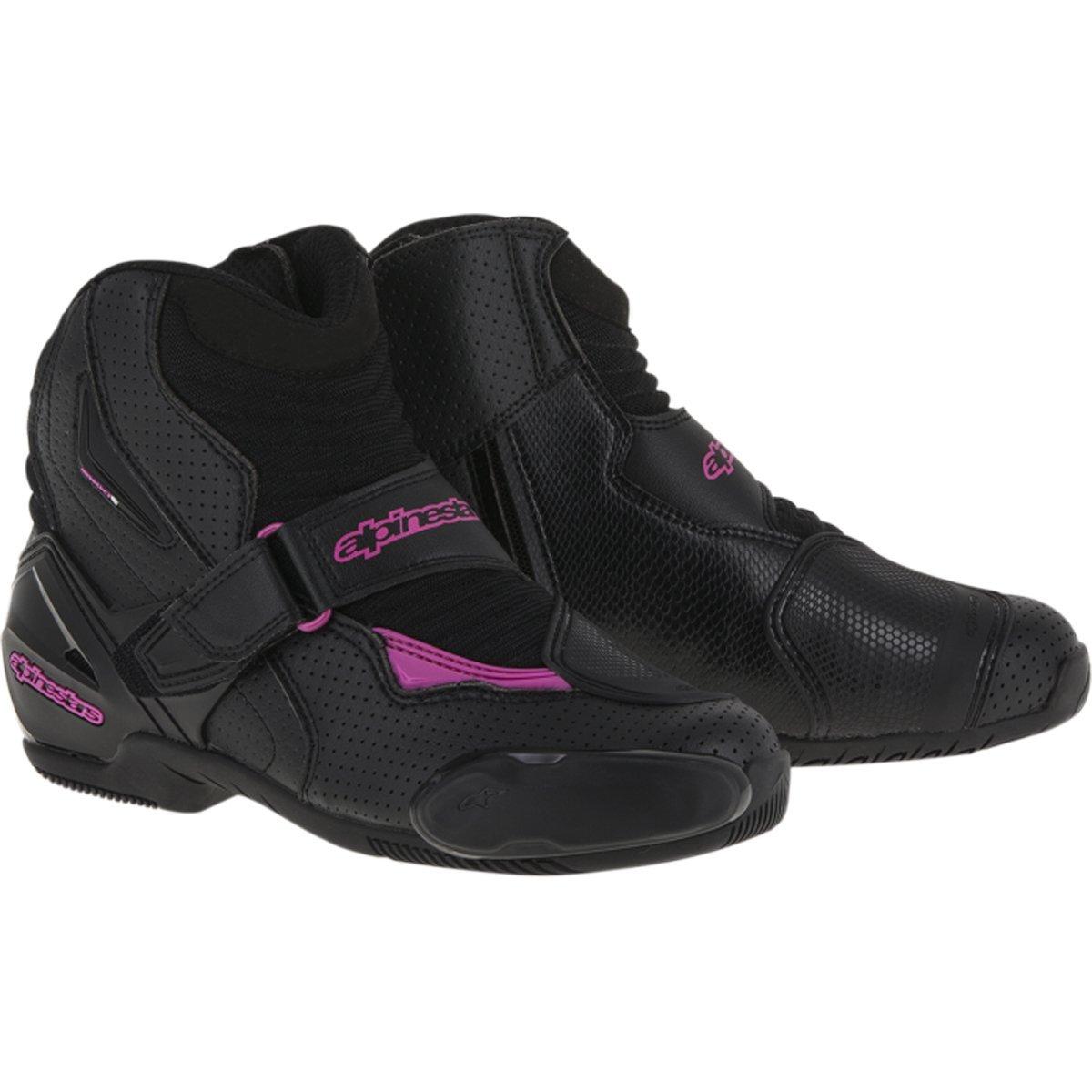 Alpinestars Stella S-MX 1R Vented Women's Street Motorcycle Shoes - Black/Pink / 38