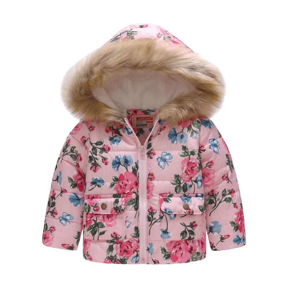 Cotton Coats Warm Jacket DAZISEN Kids Fashion Cloak Hooded Outerwear