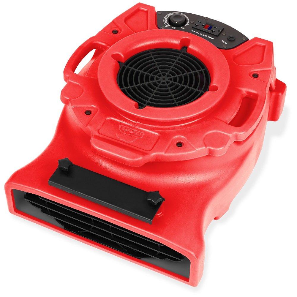 B-Air VENTLO-25 1/4 HP Low Profile Air Mover Carpet Dryer Floor Fan for Home Retail Plumbing Water Damage Restoration Blue B076HYGJM7