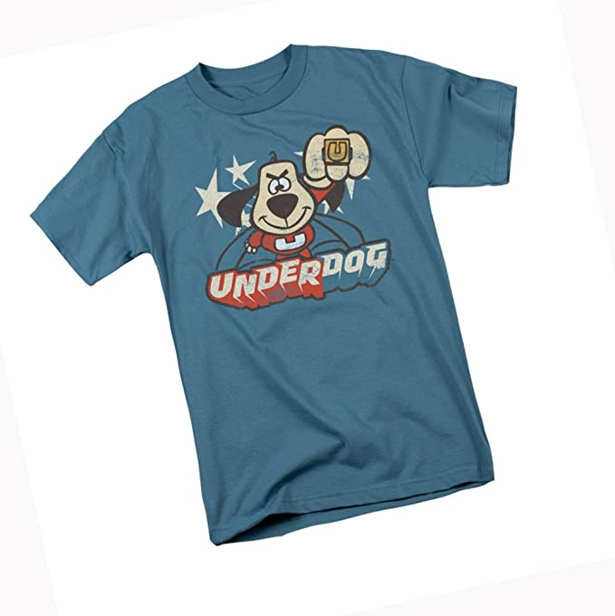 897c7668d Amazon.com: DreamWorks Flying TV Show Logo - Underdog Adult T-Shirt ...