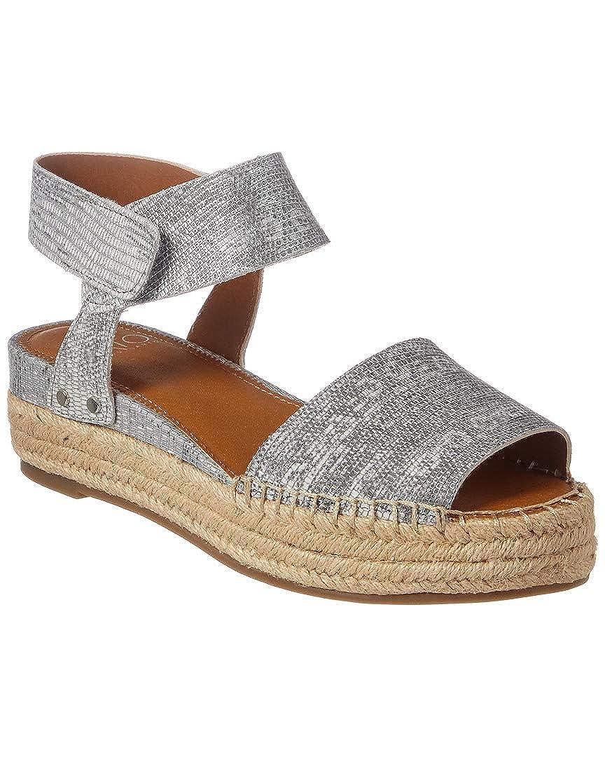 2019激安通販 [Franco 6 Sarto] Womens Oak Peep US Womens Toe Casual Leather Flat Sandals B078Z1F145 6 B(M) US|シルバー シルバー 6 B(M) US, 陽気な古着屋FRANK:456e2761 --- wattsimages.com
