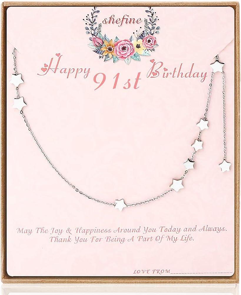 Amazon.com: 91er cumpleaños regalos para las mujeres – Acero ...