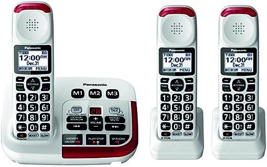 Panasonic kx-tgm420 W amplificada teléfono inalámbrico (3 Terminales): Amazon.es: Electrónica