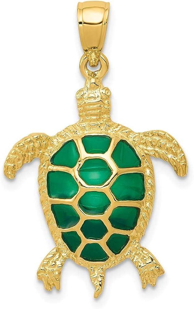 Real Gold Turtle PendantCharm 14k Gold Turtle Pendant PendantCharm Gold Turtle Pendant For Himher