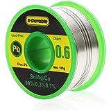 E·Durable はんだ 電気はんだワイヤー 無鉛 鉛フリー フラックス リール巻はんだ ロジンコア 銀入りハンダ 糸半田 溶接ワイヤー 低融点 溶接用品 sn-99% ag-0.3% cu-0.7% すず/銀/銅/合金 100g 線径(0.6mm)