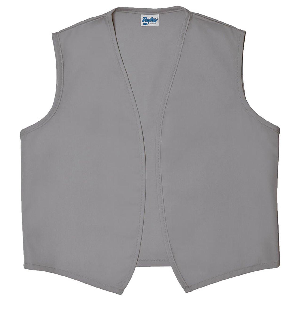 Style A740NP No Pocket Unisex Uniform Vest, (Medium, Silver Gray)