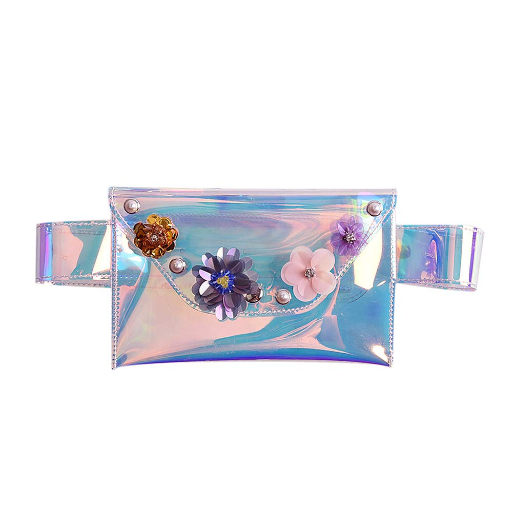 Stylish PVC Holographic Waist Fanny Pack Belt Bag Travel Phone Purse for Women