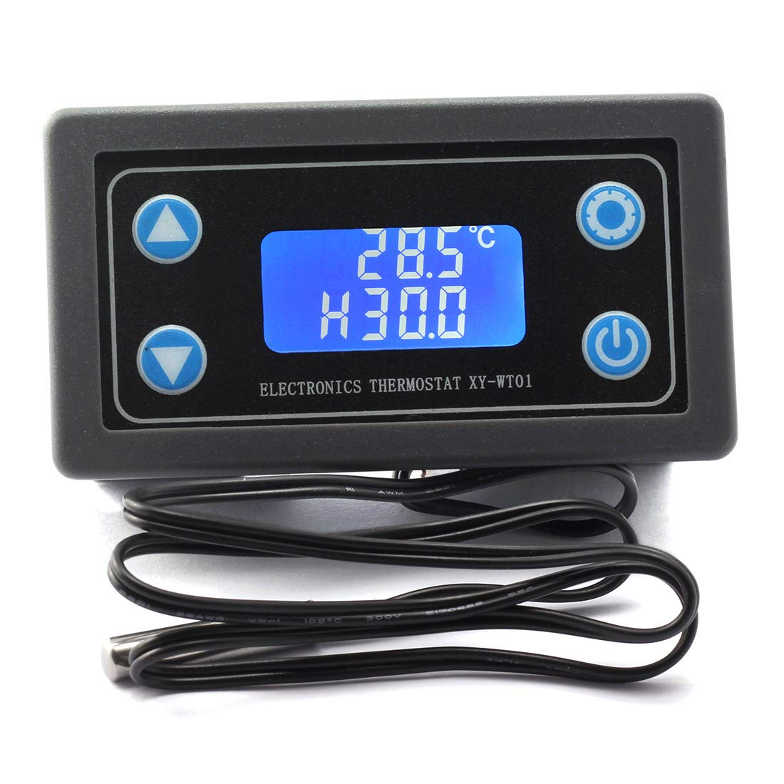 DZS Elec DC 6.0-30V Digital Temperature Controller Switch 12V 24V -50 to 110 Celsius LCD Temperature Monitoring Instrument Heating/Cooling Auto Switch AC 220V 10A High Temperature Buzzes Alarm