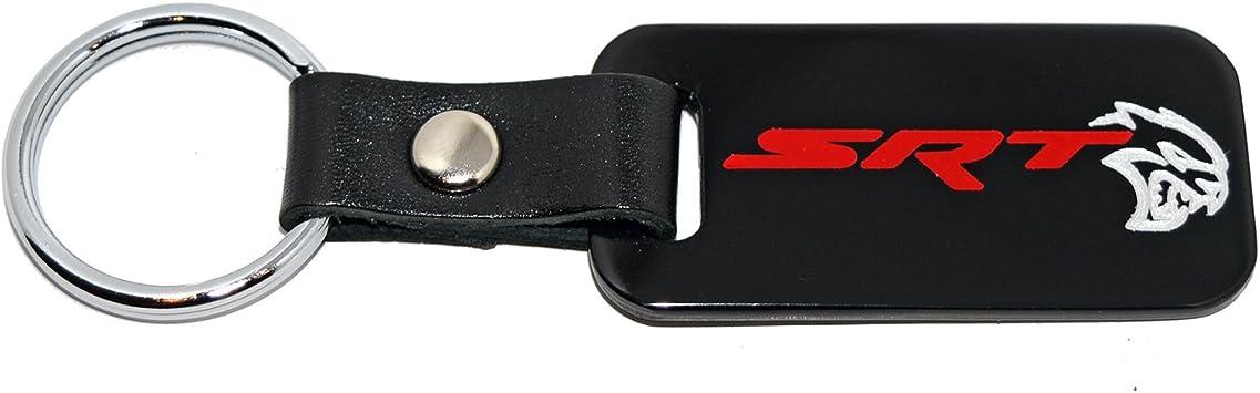 Red SRT Engraving Made in USA Dodge SRT Satin Black Key Chain Fob