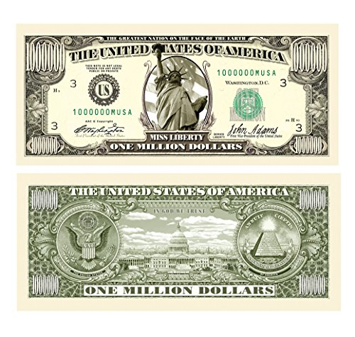 (American Art Classics Million Dollar Traditional Bill - Comes in Free Currency Money Protector - Best Million Dollar)