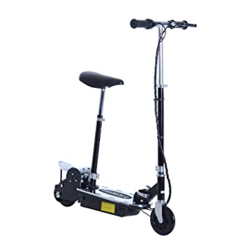 Electric Scooter With Seat >> Amazon Com Aosom 120w Teen Folding Electric Scooter With Seat