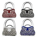 Purse Hooks Handbags Hangers,JAYLINNA 4PICS Sturdy Foldable Handbag Hangers for Table Desk Tote Bags Organizers Holders