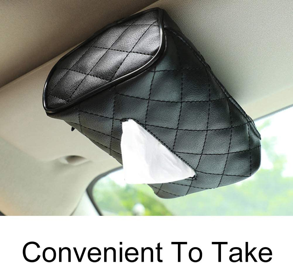 LUYANhapy9 Car Interior Accessories Car Auto Seat Back Rectangle Faux Leather Tissue Box Paper Napkin Holder Case Car Decoration Gift