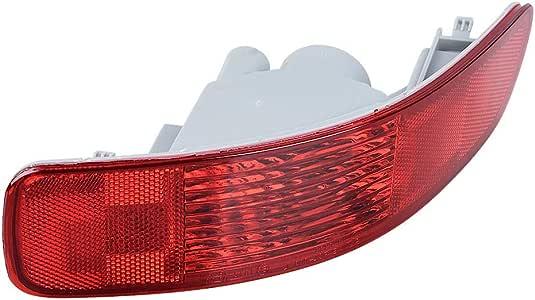 Anzio 1X Left Rear Bumper Signal Tail Light Reflector Compatible with 07-12 Mitsubishi Outlander Peugeot 4007 Citro/ën C-Crosser