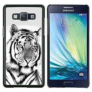 """Be-Star Único Patrón Plástico Duro Fundas Cover Cubre Hard Case Cover Para Samsung Galaxy A5 / SM-A500 ( Majestuoso León Negro Blanco"""" )"""