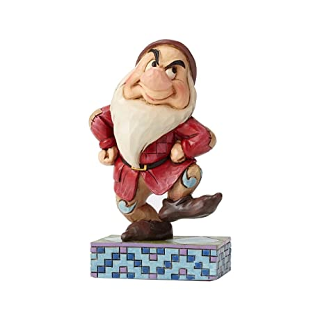 Disney Traditions by Jim Shore Snow White and the Seven Dwarfs Grumpy Stone Resin Figurine, 4.2