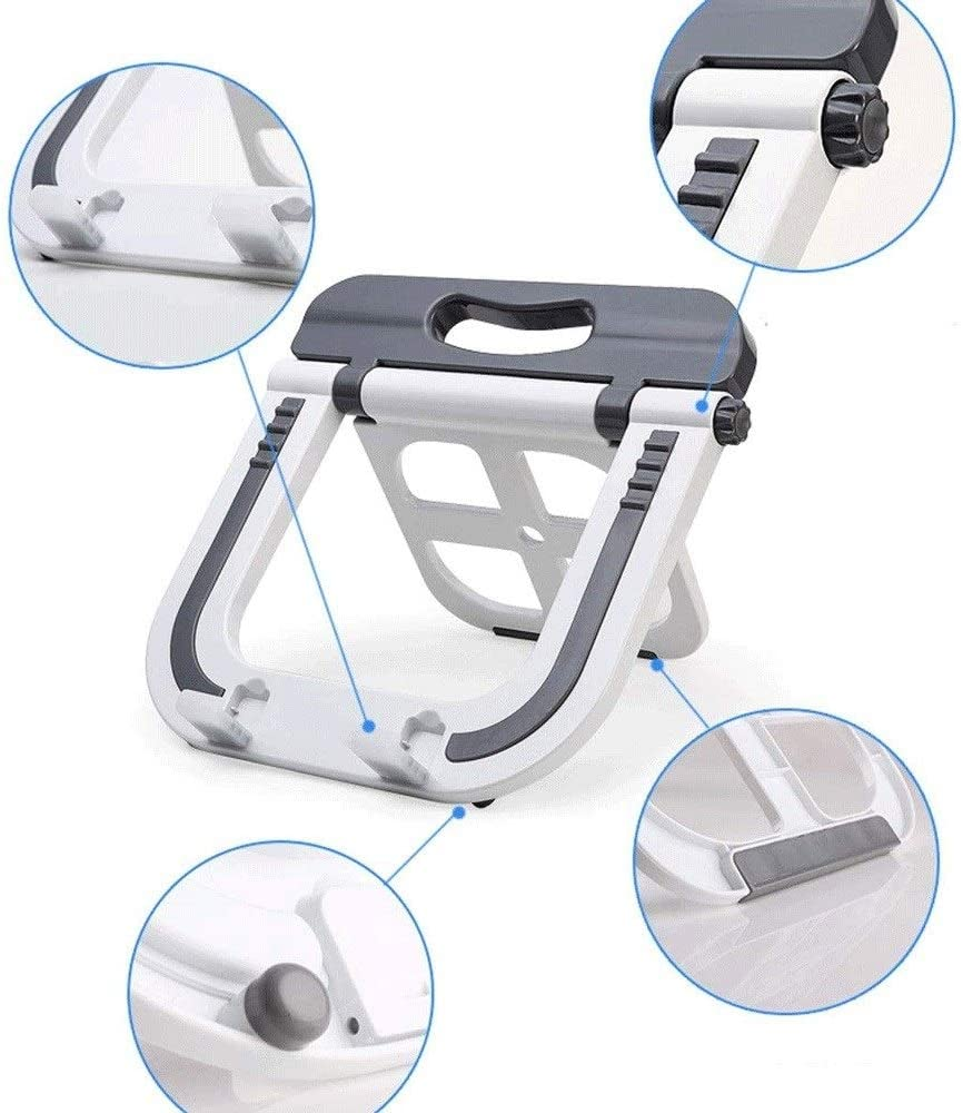 ZCD Computer Stand 4-17 Inches Radiator Adjustable Height Pad Bracket to Relieve Cervical Fatigue Laptop Portable Vertical Folding Stand Color : Black