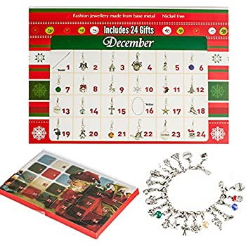 amazon com advent calendar 2018 bracelet necklace fashion jewelry