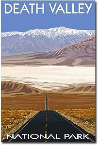 "Death Valley National Park Vintage Travel Art Refrigerator Magnet Size 2.5"" x 3.7"""