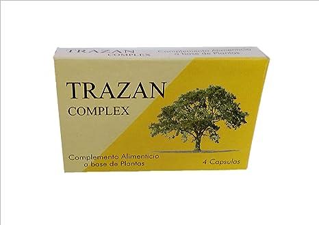 Trazan Complex 4 cápsulas de 500 mg, potenciador sexual, contra disfunción eréctil, favorece