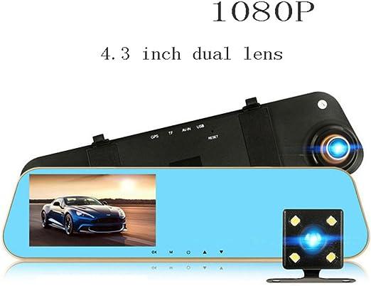 """4.3/"""" 1080P HD Car DVR Dash Cam Mirror Video Camera Recorder Wide Angle new"""