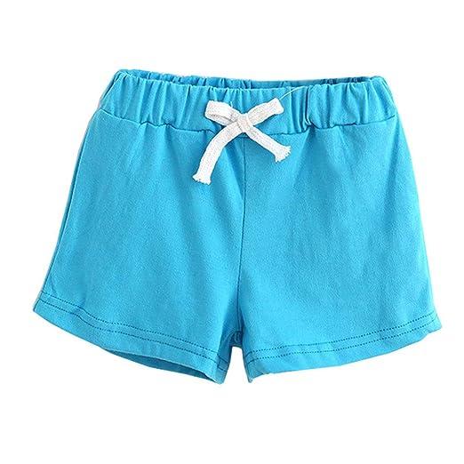 bd87c3aed40 Yeahii Children s Summer Cotton Shorts Boys Girls Shorts Health Short Baby  Clothes Fashion Pants (Purple