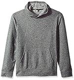 Calvin Klein Jeans Men's Brushed Cozy Crossover Hoodie, Racetrack Heather, Medium