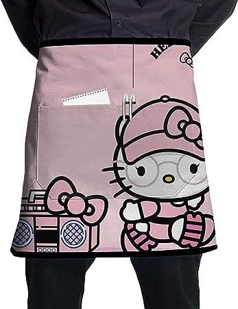 Meirdre Tablier De Taille Avec Poches Hello Kitty Avec Chapeau