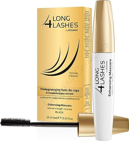 4eaaa6edfd1 Long 4 Lashes Eyelash Growth Enhancing Black Mascara with Biotin 10ml:  Amazon.co.uk: Beauty