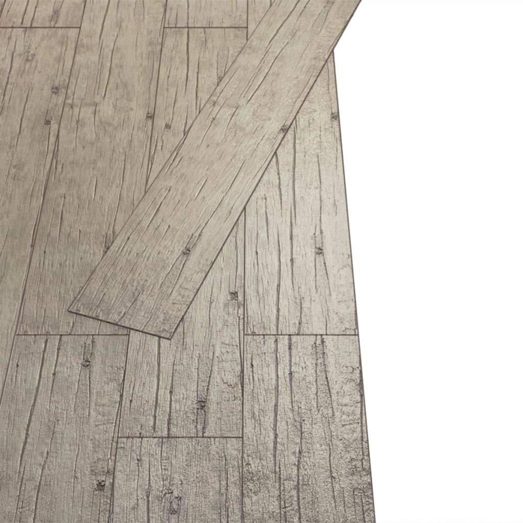 Nishore 36 Lamas Autoadhesivas para Suelo de PVC para Aisladas T/érmicamente e Insonorizadas 5,02 m/² 91,5 x 15,2 cm Roble