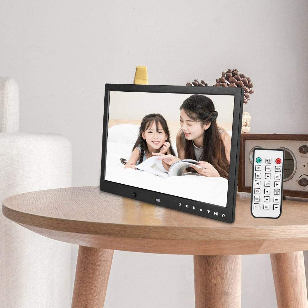 Tangxi Digital Photo Frame 1280800 High Resolution Music//Video Player Black US 13 HD Multi-Function Motion Detection Electric Picture Frame with Remote Control