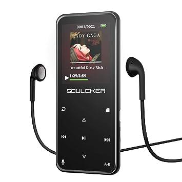 4fff11eb4 Reproductor MP3, Reproductor de Música MP3 Portátil Bluetooth 8G,  Reproductor de Música MP3 con