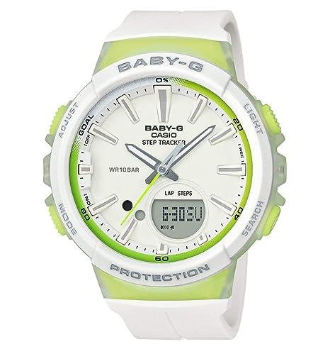 Casio Reloj Analogico-Digital para Mujer de Cuarzo con Correa en Resina BGS-100-7A2ER: Amazon.es: Relojes