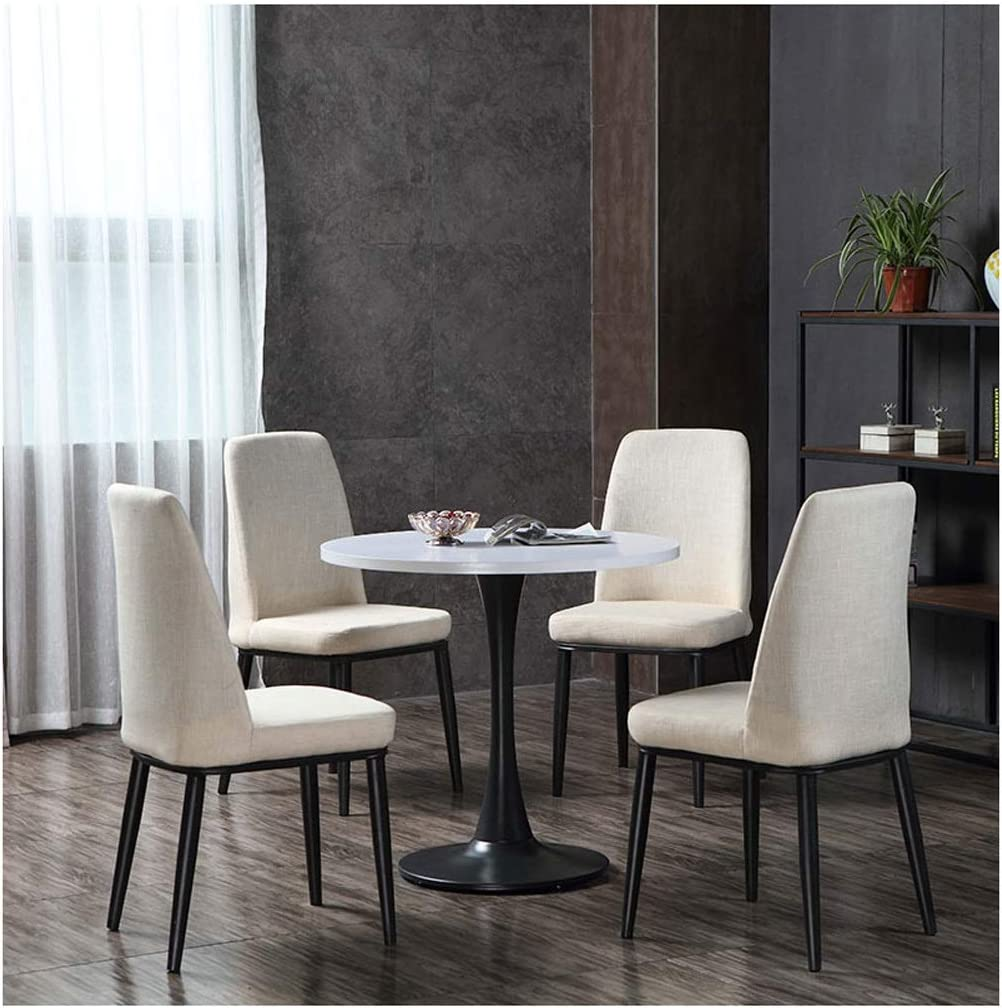Amazon Com Negotiating Tables And Chairs Small Round Table Coffee Shop Casual Simple Tea Shop Restaurant Balcony Tea Shop Bakery Cake Shop 1 Table 4 Chairs Clothing Store Cotton And Linen Gaohh