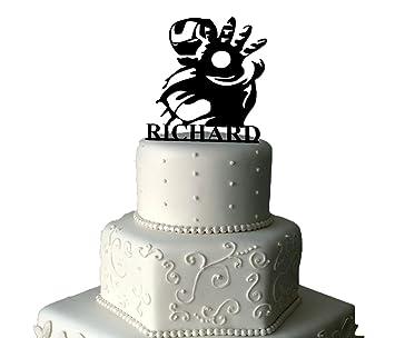 Ironman Cake Topper Personalised Ironman Cake Topper Disney Cake