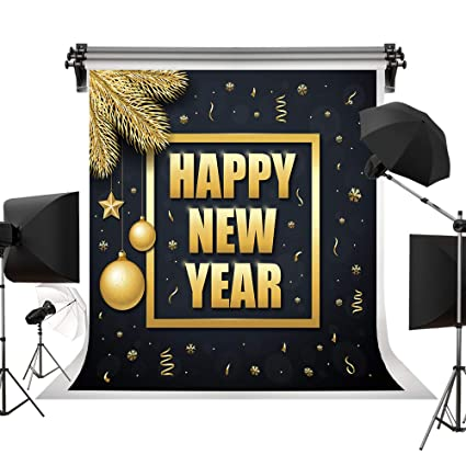 kate 10x10ft3x3m 2019 happy new year party background shining stars balls backdrop gold ribbon