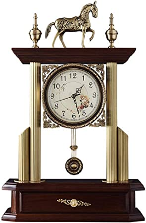 Horloge de jardin horloge de luxe en bois Vintage cheval ...