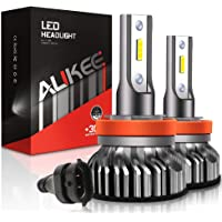 $30 » Aukee H11 LED Headlight Bulbs, 50W 10000 Lumens Extremely Bright 6000K H8 H9 CSP…