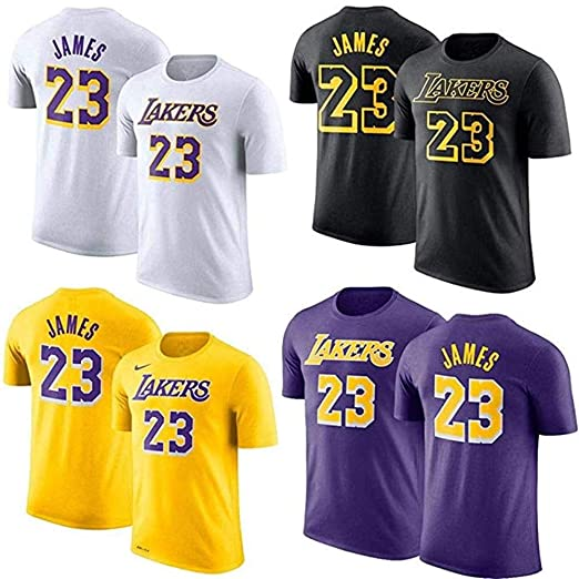 Shelfin Jersey De Hombre Camiseta De La NBA Los Angeles Lakers ...