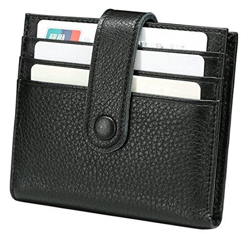 Reeple Rfid Blocking Women Minimalist Wallet Leather Small Bifold Purse with Zip Slim Compact Ladies Credit Card]()