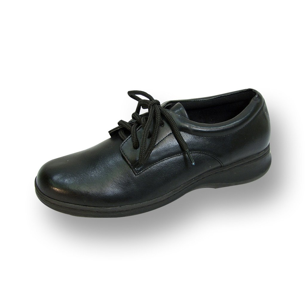 24 Hour Comfort  Alice Women Extra Wide Width Lace up Shoe Black 7.5 by 24 Hour Comfort (Image #1)